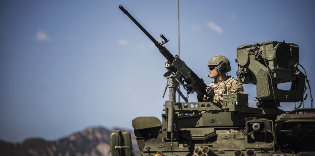 Soldier in a STRYKER