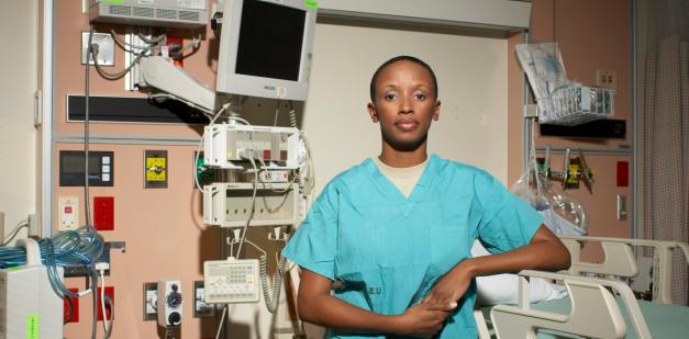 U.S Army AMEDD ICU nurse