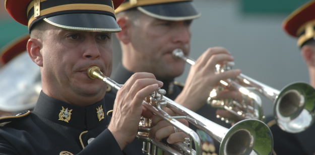 ARMY Band trumpets