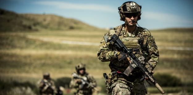 Soldiers on patrol
