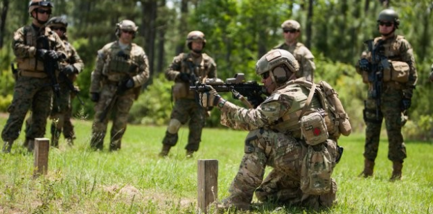 Special Forces Soldier shooting