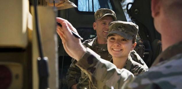 U.S. Army Soldier repairs equipment