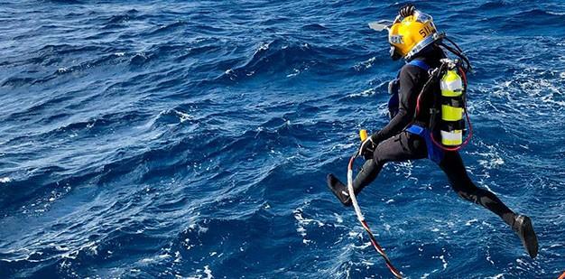Diver in suit