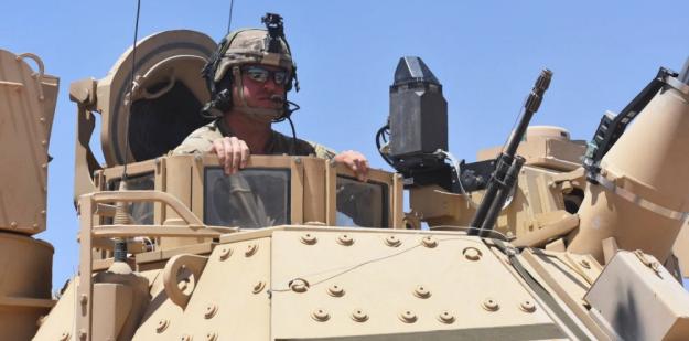 Bradley Tank in desert