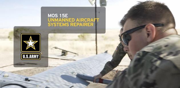 UAV operator repairing
