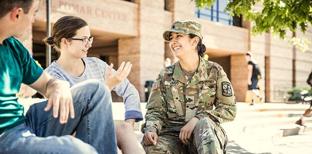 Cadets on College Campus