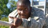 Sergeant Jackson on Confidence Course Rope Slide