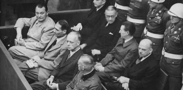 Nuremberg Trials, defendants in the dock