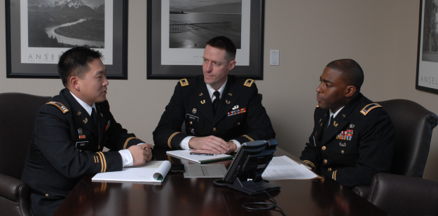 CW4 Lykes, Maj Smith and CPT Nam