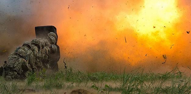 Engineer Soldiers performing basic demolition.