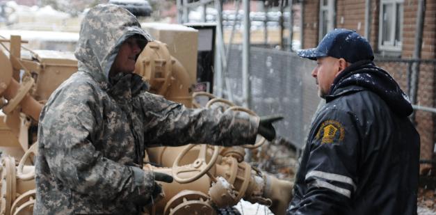 A quartermaster equipment repairer receives equipment