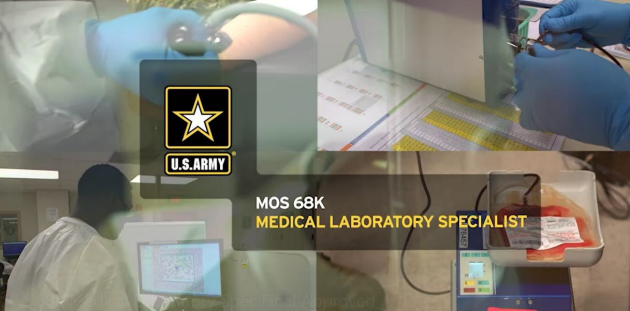 Soldiers training in a lab.