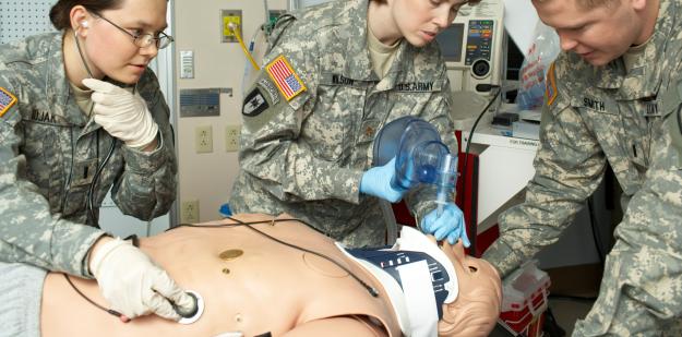 AMEDD medical nursing students learning medical procedures