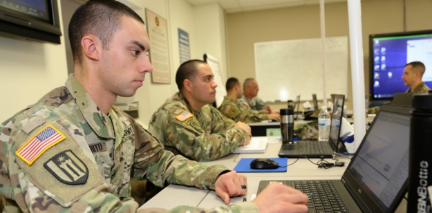 intelligence soldiers during training exercise