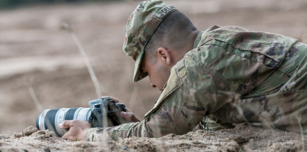 Army Public Affairs Specialist takes photos