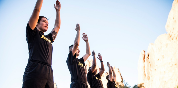Soldiers conducting physical readiness training